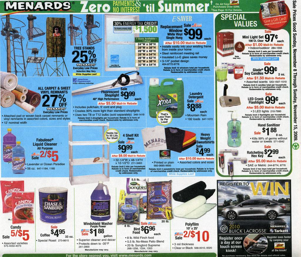 Menards deals this week